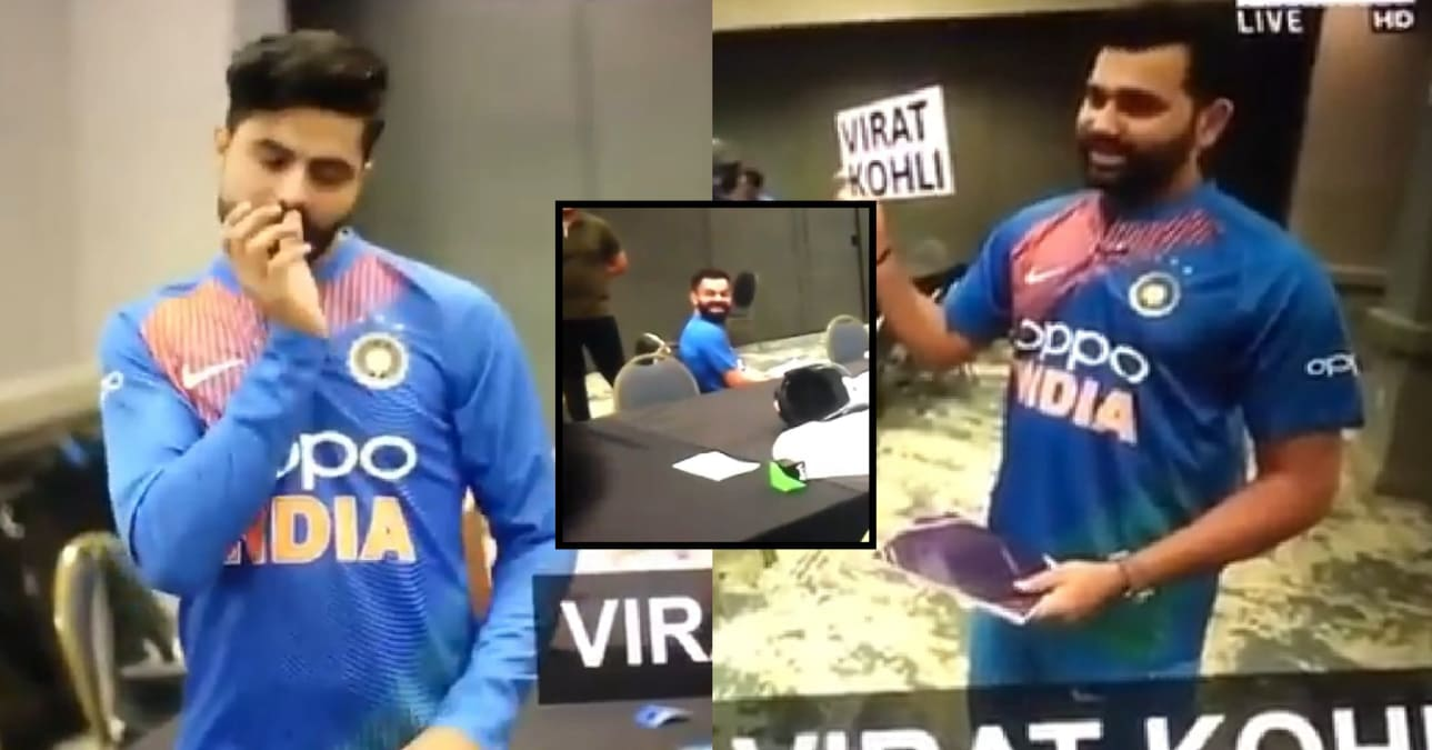 WATCH: Jadeja Playing Virat's Role & Expecting Rohit to Guess the Player