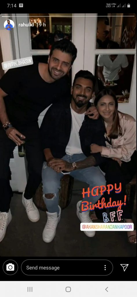 KL Rahul Comes Up With A Special Birthday Wish For Akansha Ranjan