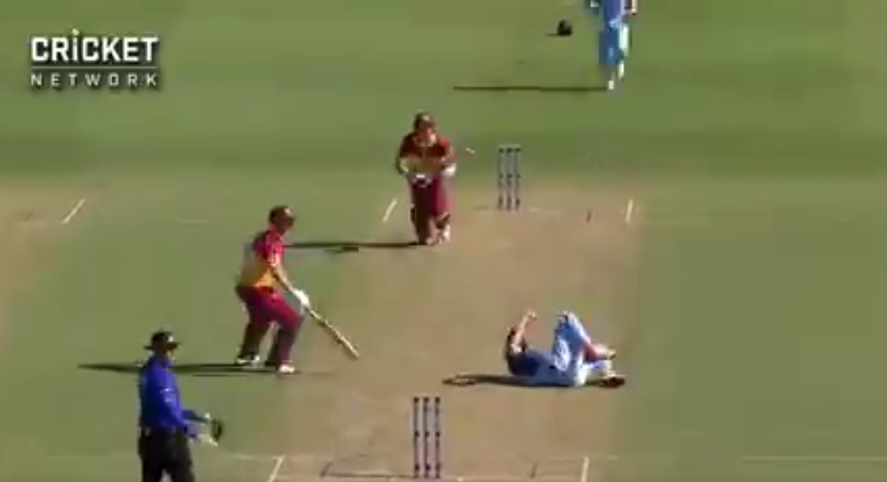 WATCH- Mickey Edwards Escapes From Serious Injury While Bowling