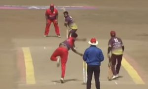 WATCH- Wide Bowl Reaches Boundary From Point In Local Cricket Game
