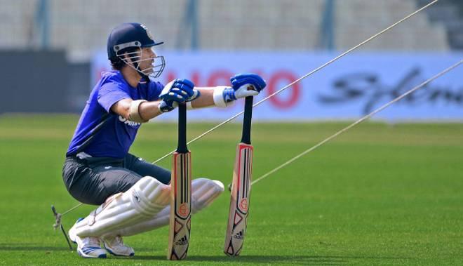 Sachin Tendulkar Playing Cricket In Rain (File Photo: KR Deepak)