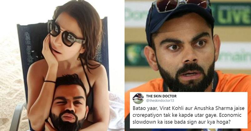 Virat Kohli Trolls For Beach Pic With Wife Anushka In The Funniest Way