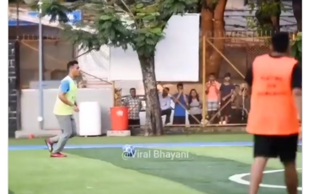 WATCH- MS Dhoni Plays Charity Football Match Along With Tennis Star