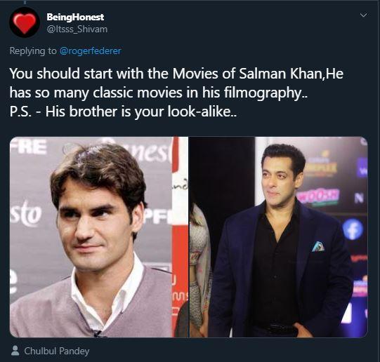 roger federer salman khan