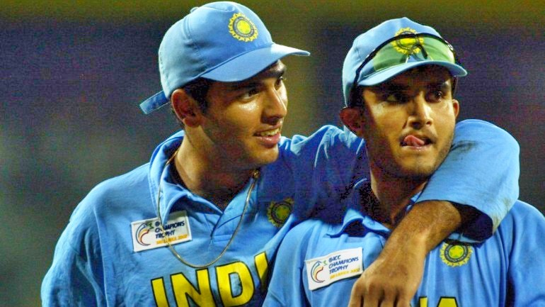 Yuvraj and Team India pulled a prank on Ganguly (Pic -Twitter)