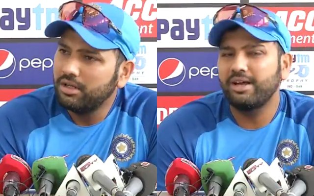 Watch- Rohit Sharma gets furious over a Journalist, 'Phone on Silent Boss'