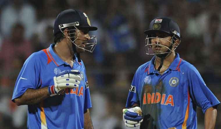 Dhoni and Gambhir (AFP Photo)