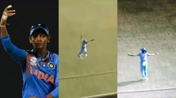 WATCH- Harmanpreet Kaur Takes A One-Handed Stunning Catch