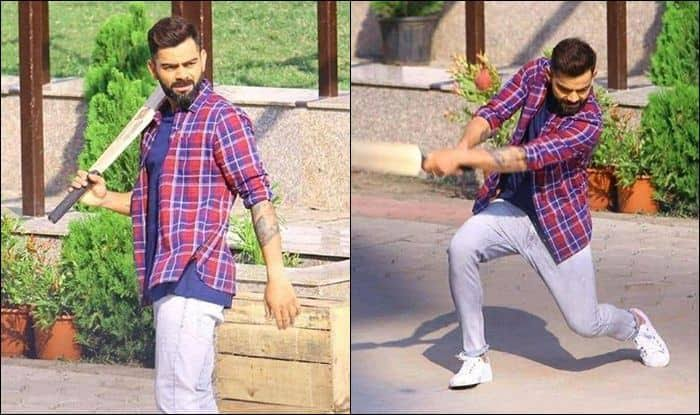 WATCH- Virat Kohli Plays Gully Cricket With Kids Ahead Of Test Series