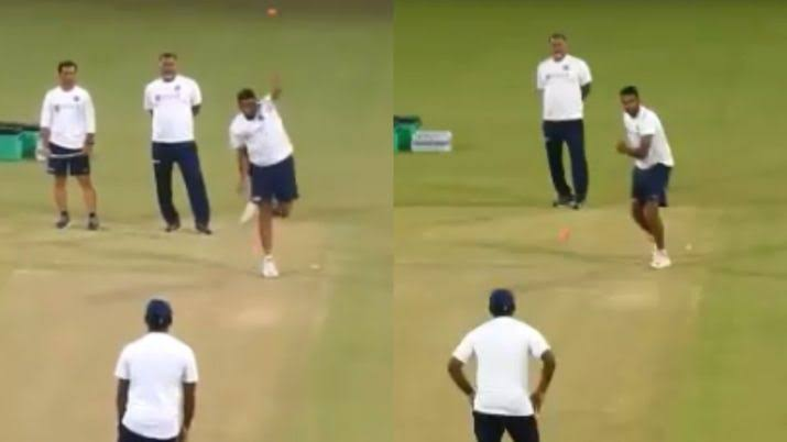 WATCH- Ashwin Now Comes Up With Left Arm Spin, After Left Handed Bat