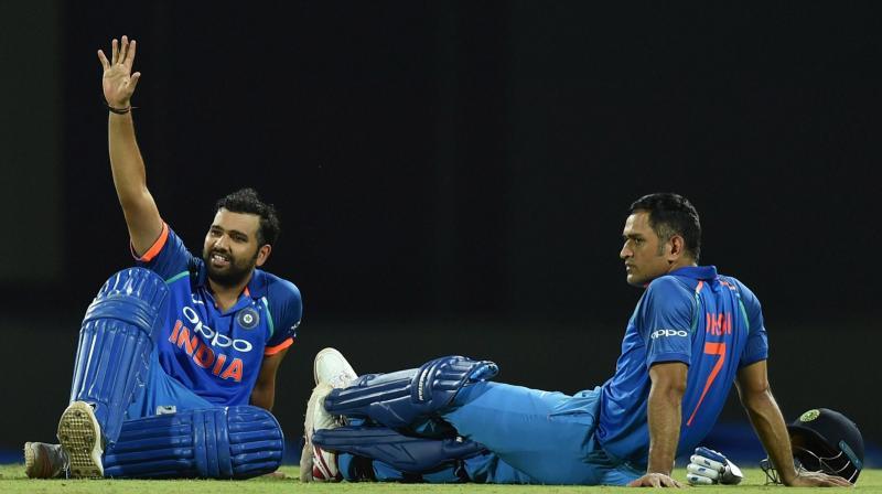 Rohit Sharma and MS Dhoni (AFP Photo)