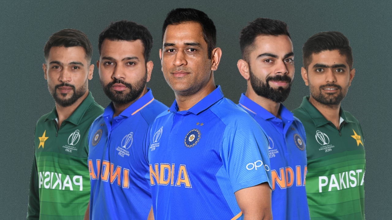 Indian and Pakistan players in Asia XI (Pic - Twitter)