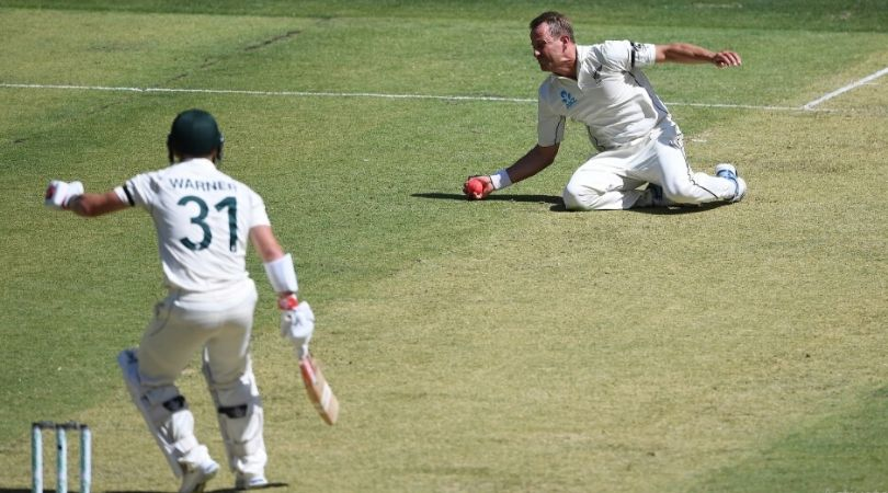 WATCH: Neil Wagner Takes A Fine Caught-And-Bowl To Dismiss Warner