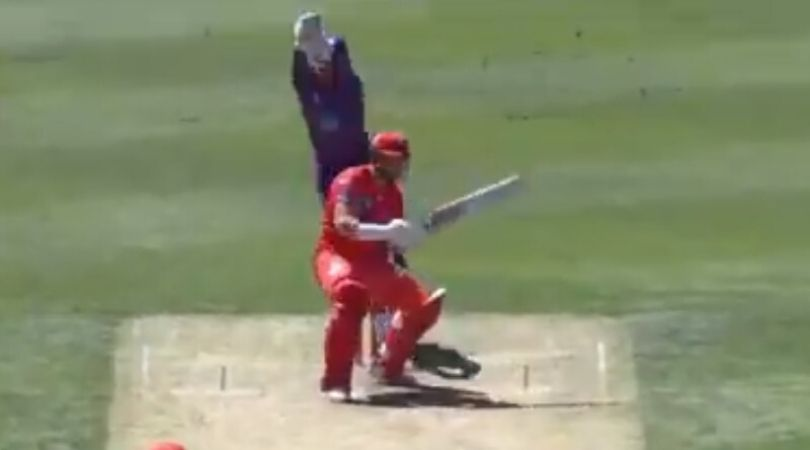 BBL 2019- Spinner Qais Ahmad stuns everyone with a deadly bouncer:The ninth edition of the Big Bash League is at its apex stage.