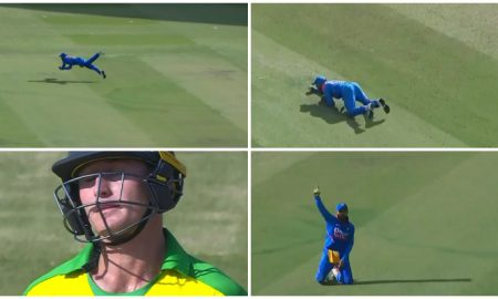 Virat Kohli Grabs Super Catch To Dismiss Marnus Labuschagne: On Sunday, India and Australia played the third and final match of Ind vs Aus ODI series 2020.