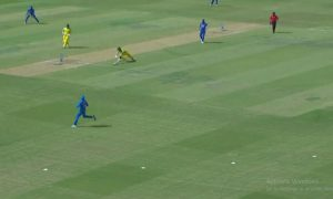 Arron Finch Gets Angry Over Steve Smith After Getting Run Out