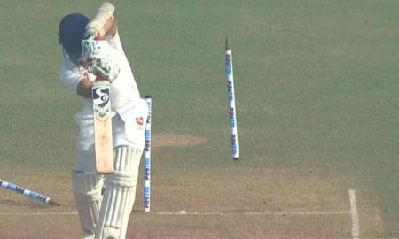 Siddarth Kaul Bowls A Beauty To Samit Gohel; Batsman Survives Despite Stumps Flying In The Air