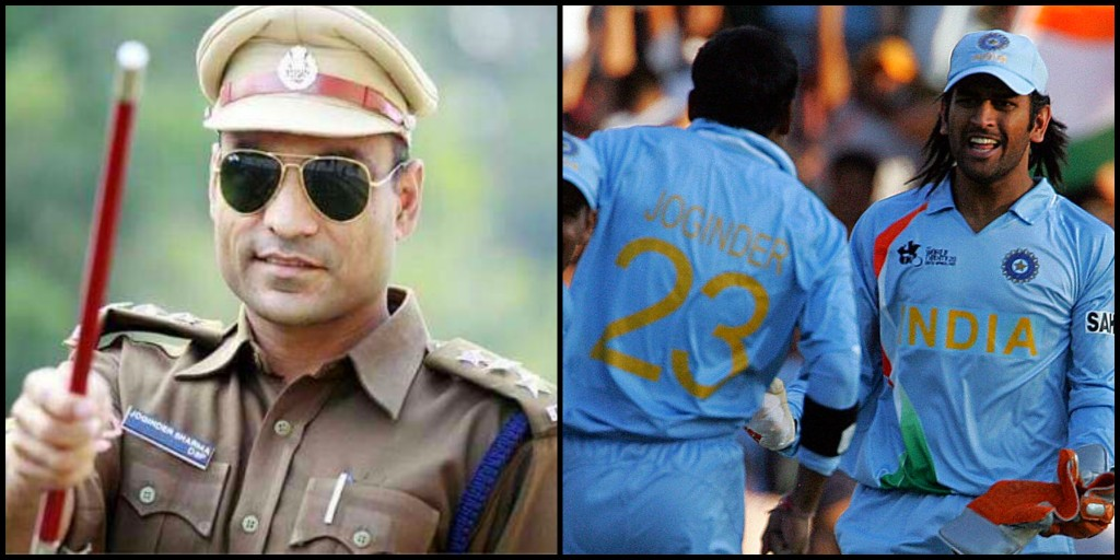 Joginder Sharma and MS Dhoni during 2007 T20 World Cup (Pic - Getty Images)