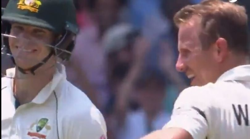 Steve Smith gets off the mark on 39th ball, the crowd cheers him: Australia and New Zealand are currently playing three test match series in Australia.