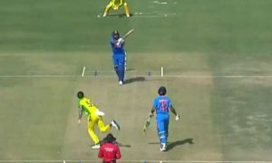 Rohit Sharma Hits Tennis-Ball Style Boundary Against Australia: India and Australia are currently playing three matches of ODIs series in India.