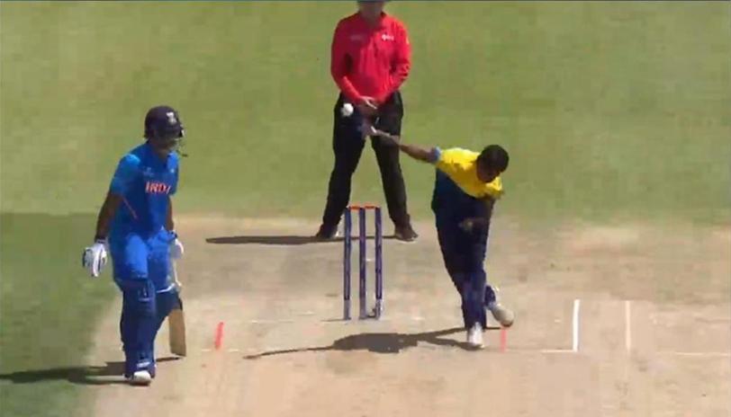 Matheesha Pathirana Sri Lanka Bowler In U19 Cricket World Cup (Pic - Twitter)