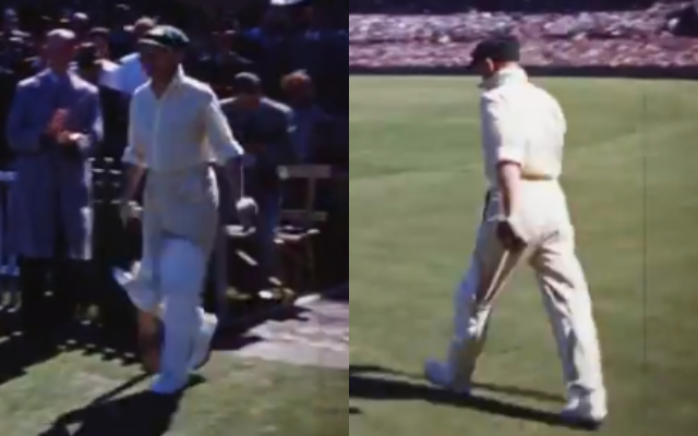 now, colour footage of Don Bradman batting at Sydney Cricket Ground, which has been released by National Film and Sound Archive of Australia (NFSA)