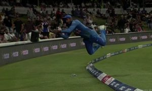 Sanju Samson Flown Into The Air To Save Four Runs In The India T20 Match