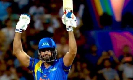 In the third match of the ongoing Road Safety World Series 2020, India Legends' Irfan Pathan's half century innings and hepled in run chase.
