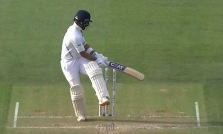 Indian vice-captainAjinkya Rahane has also played an unconvincing inning as he struggled against short-pitch bowling.