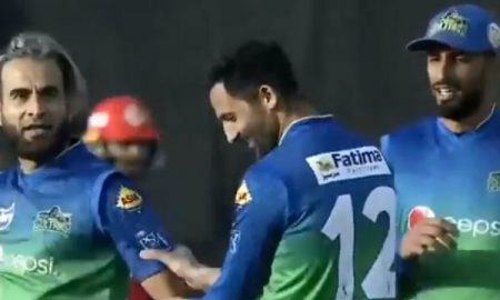 South African spin bowler Imran Tahir is known for his animated celebrations after dismissing the batsmen.