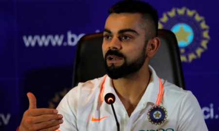 while addressing the media Indian skipper Virat Kohli loses cool at New Zealand reporter after being asked about his behaviour.