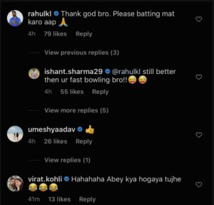 Ishant batting