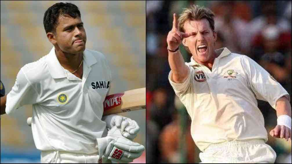 aakash chopra video in which brett lee dismissed him with yorker