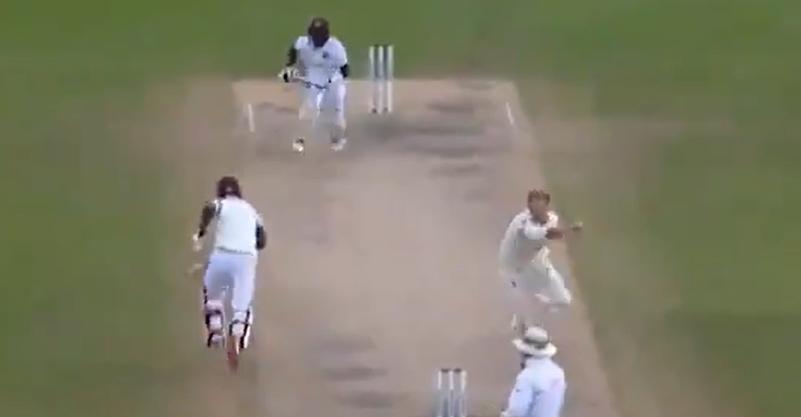 Ben Stokes runs bowling boundary