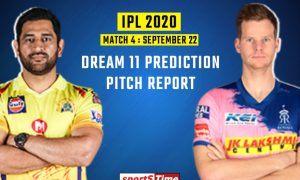 Here you will find CSK (Chennai Super Kings) vs RR (Rajasthan Royals) best probable playing 11 for fourth match of IPL 2020 and also best dream 11 team Prediction.