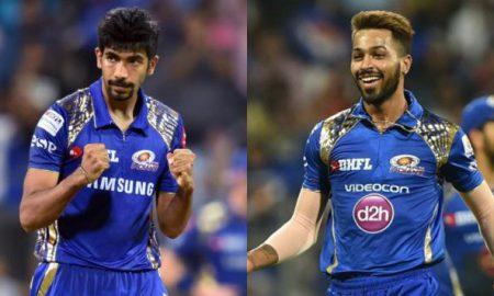 Hardik Pandya reacts furiously after Jasprit Bumrah refrains from diving to stop the ball