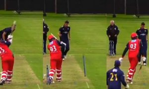 A Bizarre Incident - Uprooted Stump Flies, Takes A Couple Of Rounds and Lands Upright!