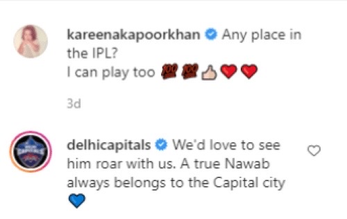 Delhi Capitals Respond Wittily To Kareena Kapoor's Wish For Taimur To Feature In The IPL