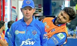 Rishabh Pant caught hilariously mocking coach Ricky Ponting during live onfield interview