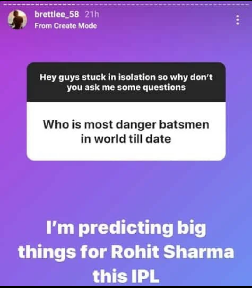 Most dangerous batsman in IPL 2020: Brett Lee and Rickey Ponting referred Rohit