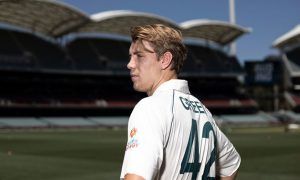 Cameron Green has a hilarious moment to remember in his debut test at Adelaide Oval