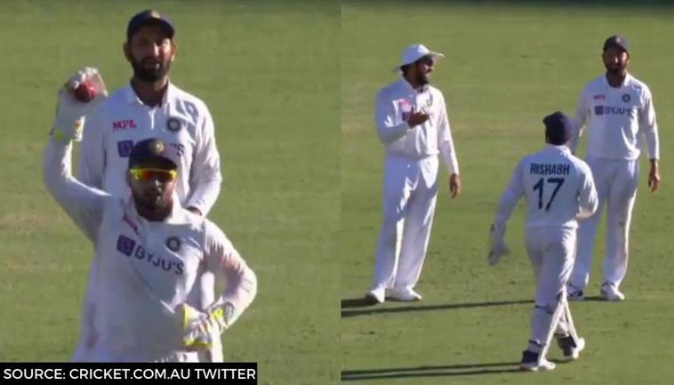 Ajinkya Rahane dismisses Rishabh Pant's DRS appeal in the fourth Test