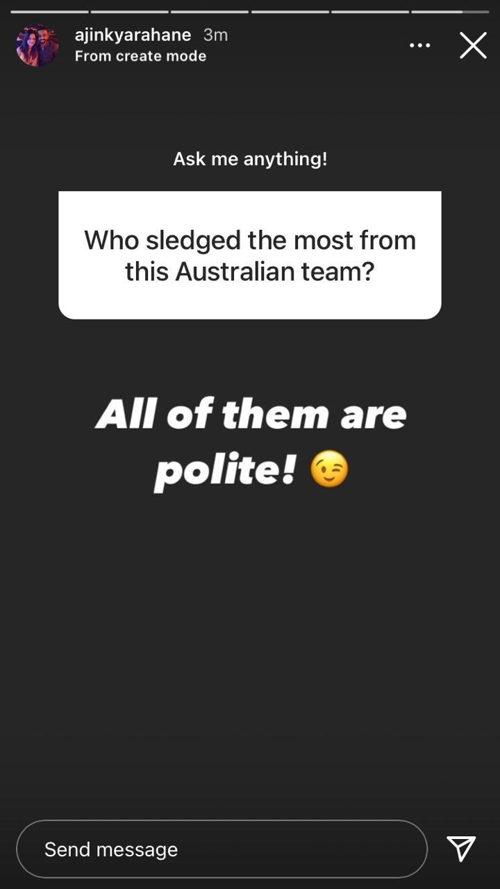 Ajinkya Rahane mocks Aussie team in a response to Fan's question
