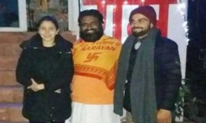 Virat Kohli and Anushka Sharma and Guru Maharaj Anant Baba