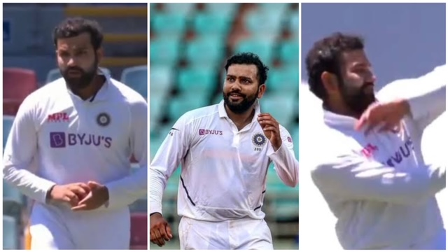 Rohit Sharma bowling today match wasn't a big surprise, but his bowling action certainly raised some eyebrows.