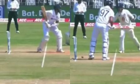 Fans remember Dhoni as the bails come off the stumps in a baffling manner
