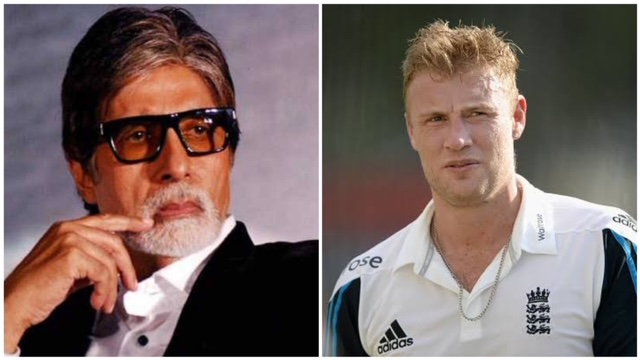 English former cricketer Andrew Flintoff decided to reinstate the 5-year-old banter with Amitabh Bachchan.