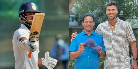 Father of Washington Sundar reveals his name reason. The origin of his name came from PD Washington. Today he scored his highest score in Test