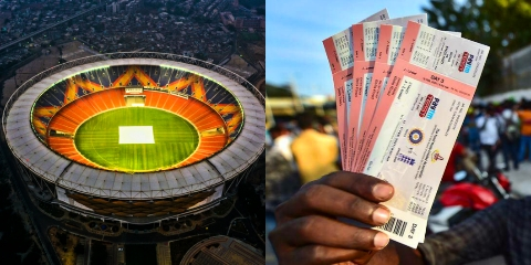 Tickets booking for 4th test at Narendra Modi Stadium is available on Bookmyshow. Starting price of India vs England Ahmedbad tickets is 300.