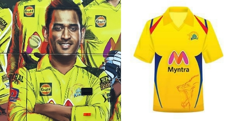 CSK unveils new jersey for IPL 2021 season. Team bus of Chennai Super Kings suggests that the jersey is a tribute to the Indian Army.